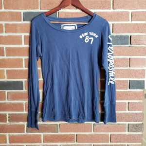 Aeropostale Blue Long Sleeve Tee